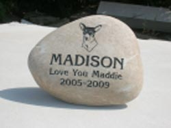 Pet Memorial Garden Engraved Stone